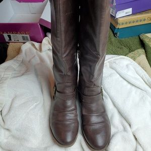 Rampage Women's Tall Riding Boots, Brown Size 8.5